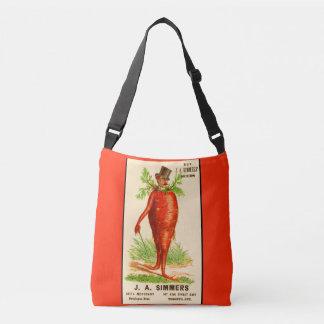 carrot man Victorian trade card Crossbody Bag