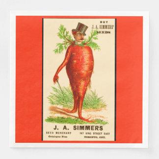 carrot man Victorian trade card Disposable Napkins