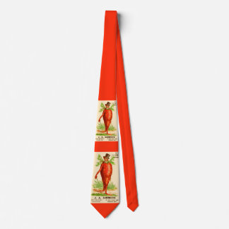 carrot man Victorian trade card Tie