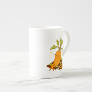 Carrot on Vacation Tea Cup