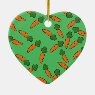 Carrot pattern ceramic ornament