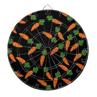 Carrot pattern dartboard
