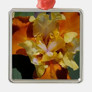 Carrot Petals Silver-Colored Square Ornament