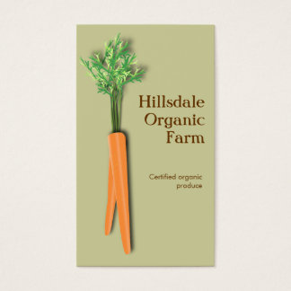 Carrot Vegetable Farm Market Business Card