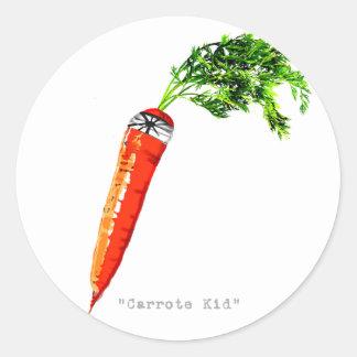 carrote kid-dark round sticker