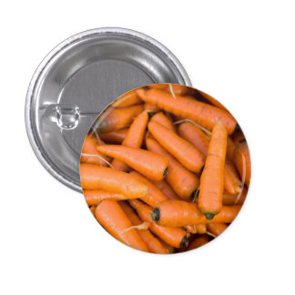 Carrots 1 Inch Round Button