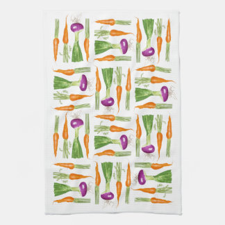 Carrots and Onions Kitchen Towel
