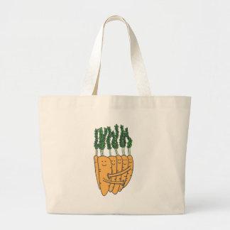 Carrots Large Tote Bag
