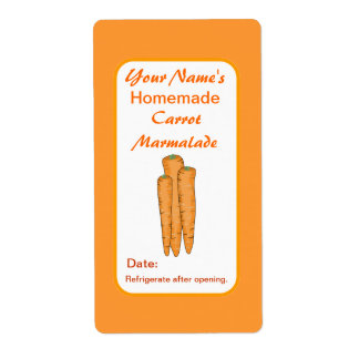 Carrots Personalized Preserve Labels Canning Jar Shipping Label