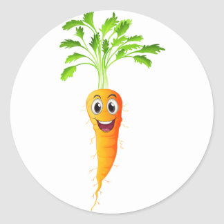 Carrots Round Sticker