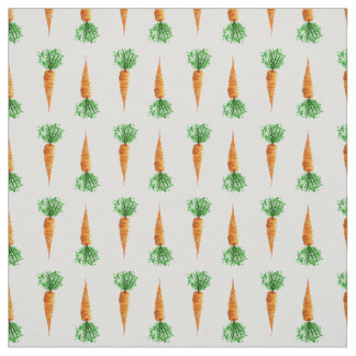 Carrots watercolor modern pattern fabric