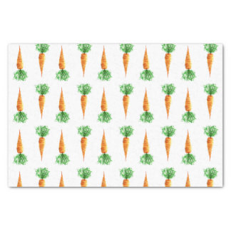 Carrots watercolor pattern tissue paper