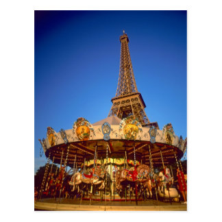 Carrousel, Eiffel Tower, Paris, France Postcard