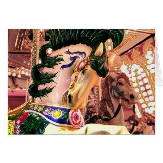 Carrousel Horse Card