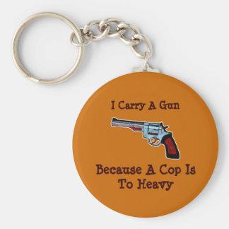 Carry A Gun Revolver Handgun Pro-Gun Keychains