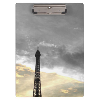 Carry block Eiffel Tower gold and money Clipboard