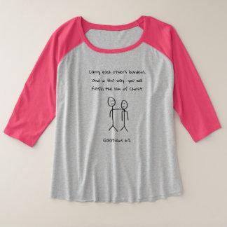 Carry Each Other's Burdens Plus Size Raglan T-Shirt