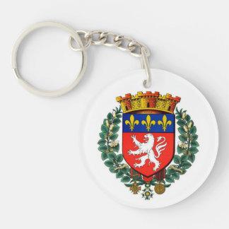 carry key acrylic resin Lyon blazon Keychain