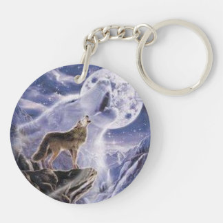carry key acrylic resin wolf colors keychain