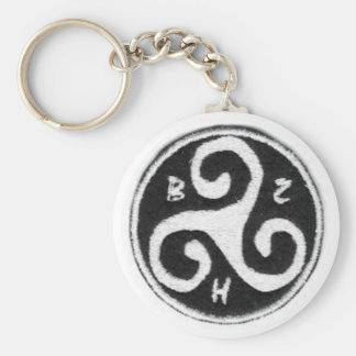 Carry key Brittany Basic Round Button Keychain