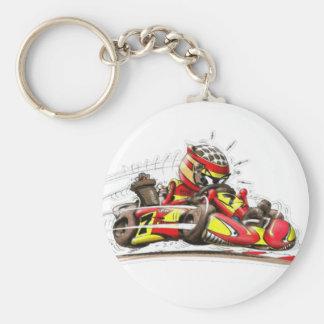 Carry key karting keychain