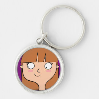 Carry-key Miss Juju Silver-Colored Round Keychain