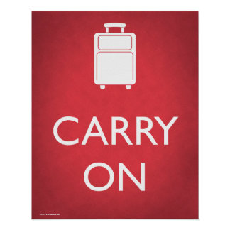 Carry On Luggage Funny Poster