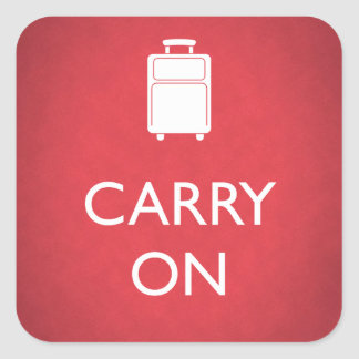 CARRY ON - Luggage - Funny Red Stickers