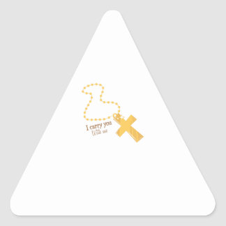Carry You With Me Triangle Sticker