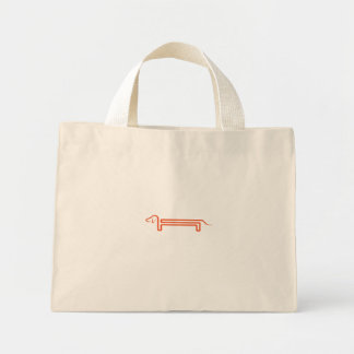 Carrying bag in the mini format with dachshund