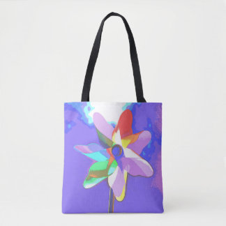 Carrying bag with multicolored windwheel