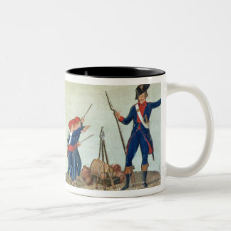 Carrying of the Model of the Bastille Two-Tone Coffee Mug