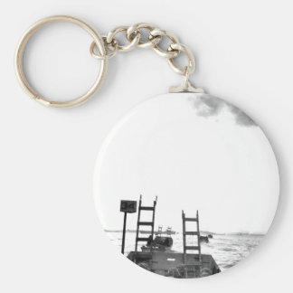 Carrying scaling ladders, U.S. Marines_War Image Basic Round Button Keychain