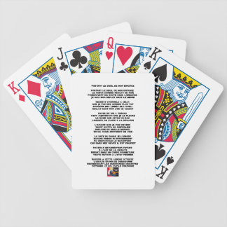 Carrying the Mourning of my Childhood - Poem Bicycle Playing Cards