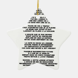 Carrying the Mourning of my Childhood - Poem Ceramic Ornament