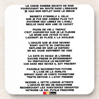 Carrying the Mourning of my Childhood - Poem Coaster