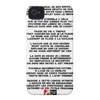 Carrying the Mourning of my Childhood - Poem iPhone 4 Covers
