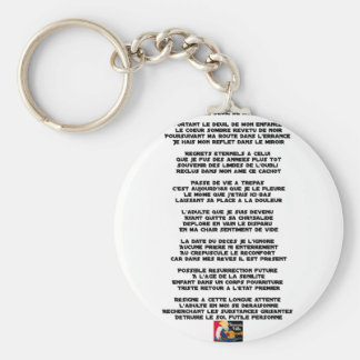 Carrying the Mourning of my Childhood - Poem Keychain