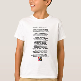 Carrying the Mourning of my Childhood - Poem T-Shirt
