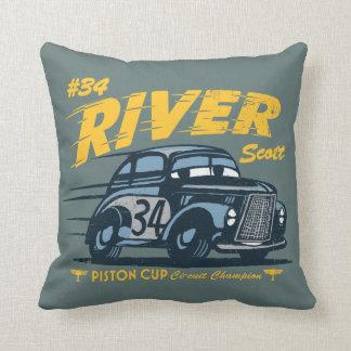 Cars 3   #34 River Scott Throw Pillow