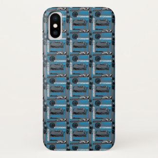 Cars 3 | Jackson Storm - Storming Through Pattern iPhone X Case