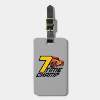 Cars 3 | Lightning McQueen - 7 Time Champ Luggage Tag