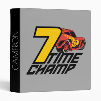 Cars 3 | Lightning McQueen - 7 Time Champ Vinyl Binders