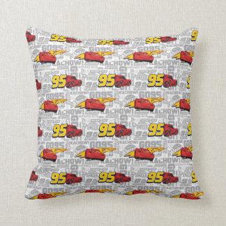 Cars 3 | Lightning McQueen 95 Pattern Throw Pillow