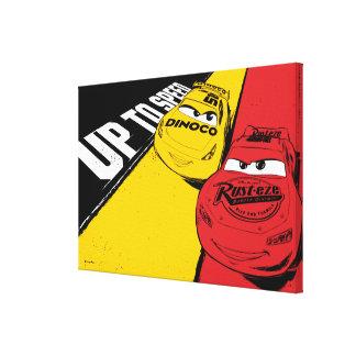 Cars 3 | Lightning McQueen & Cruz Ramirez - Speed Canvas Print