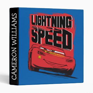 Cars 3 | Lightning McQueen - Lightning Speed 3 Ring Binders