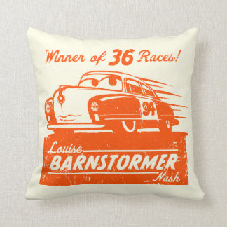 Cars 3 | Louise Barnstormer Nash - 36 Races Throw Pillow