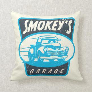 Cars 3   Smokey's Garage Throw Pillow