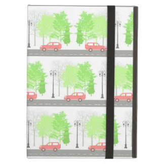 Cars and trees iPad air case