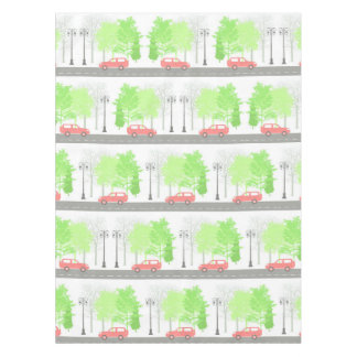 Cars and trees tablecloth